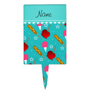 Name turquoise cotton candy apples corn dogs cake picks