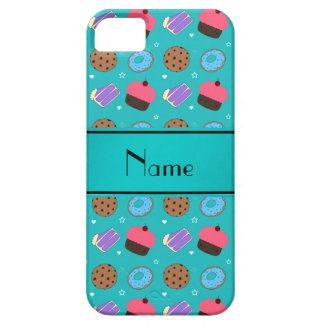Name turquoise cupcake donuts cake cookies iPhone 5 cases