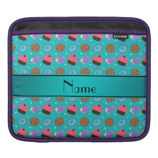 Name turquoise cupcake donuts cake cookies sleeves for iPads