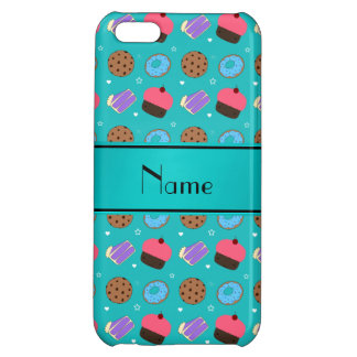 Name turquoise cupcake donuts cake cookies iPhone 5C case