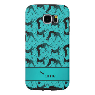 Name turquoise diamond steel plate wrestling samsung galaxy s6 case