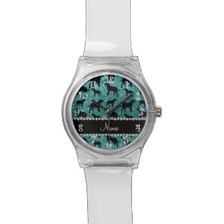Name turquoise glitter labrador retrievers watch