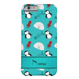 Name turquoise penguins igloo fish squid barely there iPhone 6 case