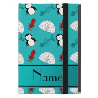 Name turquoise penguins igloo fish squid iPad mini case