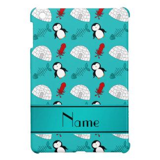 Name turquoise penguins igloo fish squid iPad mini covers