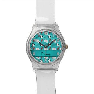 Name turquoise penguins igloo fish squid wristwatch