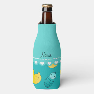 Name turquoise rubberduck baby carriage bottle cooler