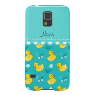 Name turquoise rubberduck baby carriage case for galaxy s5