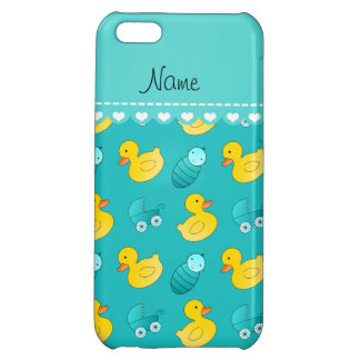 Name turquoise rubberduck baby carriage cover for iPhone 5C