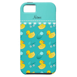 Name turquoise rubberduck baby carriage iPhone SE/5/5s case
