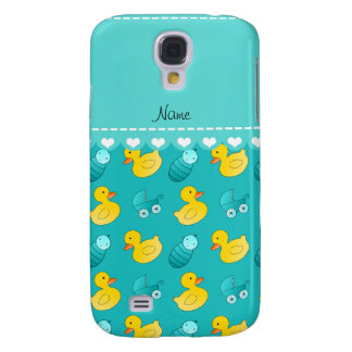 Name turquoise rubberduck baby carriage samsung galaxy s4 case