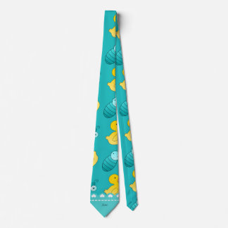 Name turquoise rubberduck baby carriage tie