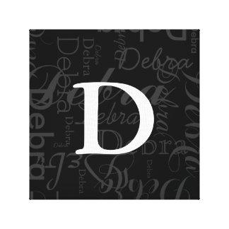 name typography monogram canvas print