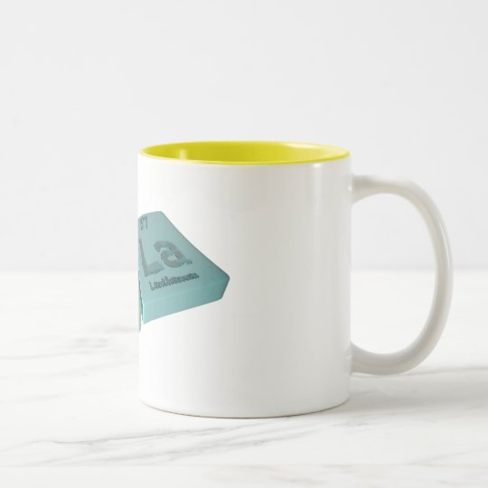 name-Ula-U-La-Uranium-Lanthanum Two-Tone Coffee Mug