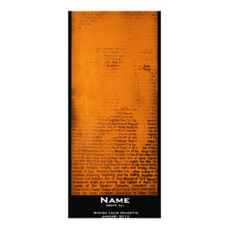"""""""Name"""" Value Bookmark Full Color Rack Card"""