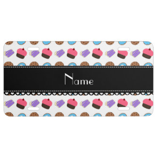 Name white cupcake donuts cake cookies license plate