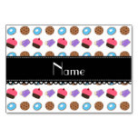 Name white cupcake donuts cake cookies table cards