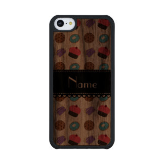 Name white cupcake donuts cake cookies carved® walnut iPhone 5C case