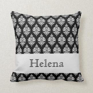 Name,White Damask Pattern,Black Throw Pillow