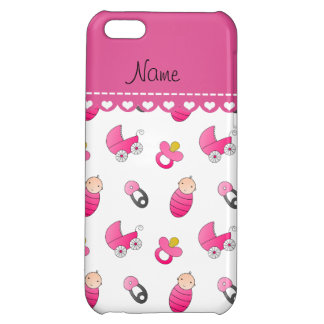 Name white pink baby pin carriage pacifier iPhone 5C case