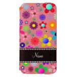 Name white transparent colorful retro flowers incipio watson™ iPhone 6 wallet case