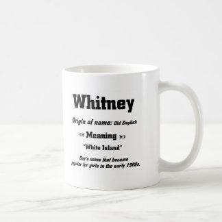 Name Whitney Coffee Mug