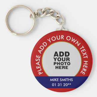 name, words & special date, photo keychain