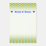 [ Thumbnail: Name + Yellow and Green Diamond Shape Pattern Notes ]