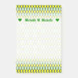 [ Thumbnail: Name + Yellow and Green Diamond Shape Pattern Notes ]