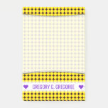 [ Thumbnail: Name; Yellow and Orange Dots/Circles Pattern Notes ]