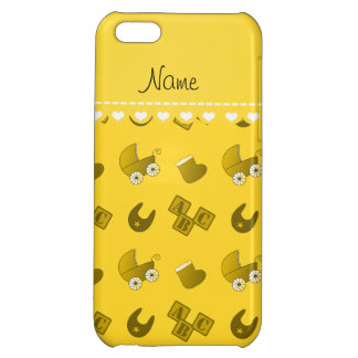 Name yellow baby bib blocks carriage booties iPhone 5C covers