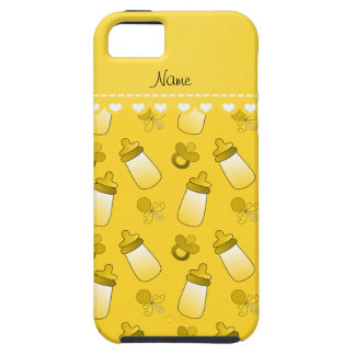 Name yellow baby bottle rattle pacifier iPhone SE/5/5s case