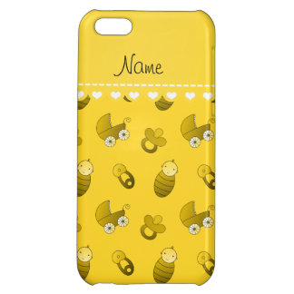 Name yellow baby pin carriage pacifier iPhone 5C covers