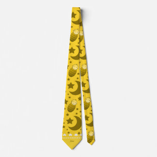 Name yellow baby teddy bear stars moons tie