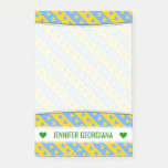 [ Thumbnail: Name; Yellow/Blue Hearts and Stripes Pattern Notes ]