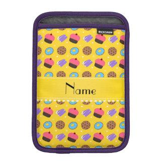 Name yellow cupcake donuts cake cookies sleeve for iPad mini