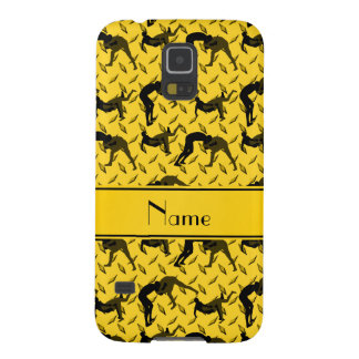 Name yellow diamond steel plate wrestling case for galaxy s5