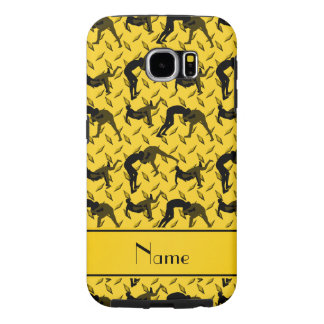 Name yellow diamond steel plate wrestling samsung galaxy s6 case