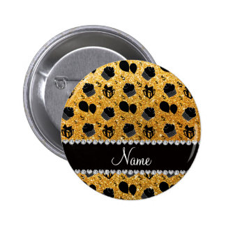 Name yellow glitter cupcakes balloons presents 2 inch round button