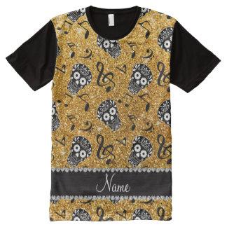 Men 39 s glitter skull t shirts zazzle for Print name on shirt