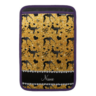 Name yellow glitter wrestling hearts bows MacBook air sleeves
