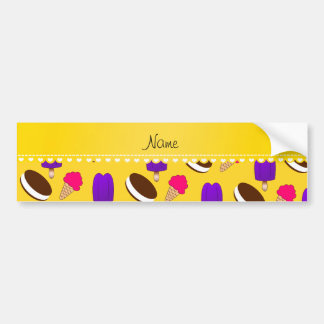 Name yellow ice cream cones sandwiches popsicles car bumper sticker