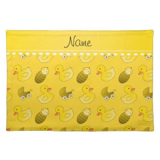 Name yellow rubberduck baby carriage placemat