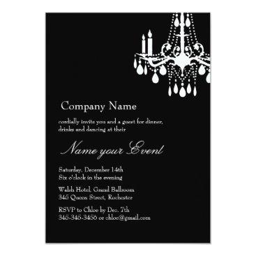 Professional Business Name your Event Black Grand Ballroom Card