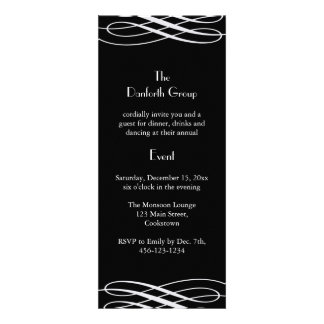 Name your Event Black with Silver Ribbons Custom Invite