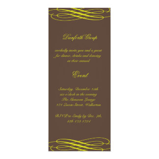 Name your Event Chocolate with Golden Ribbons Card