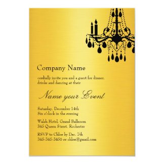Name your Event Gold Grand Ballroom Card