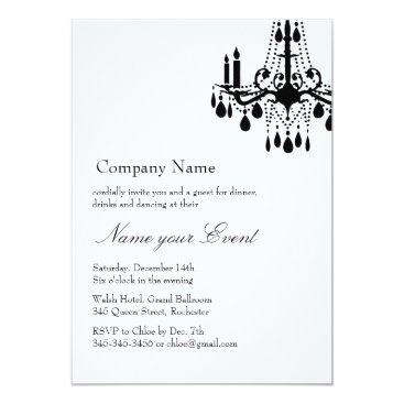 Professional Business Name your Event White Grand Ballroom Card