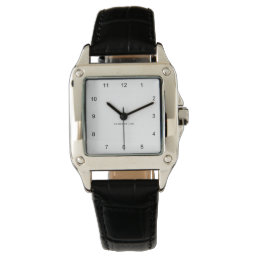 Name Your Perfect Square Watch