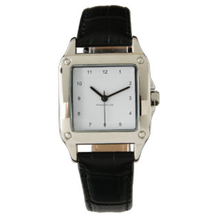 Name Your Perfect Square Watch at Zazzle